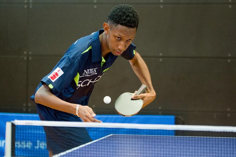 Hamidou Sow gewann in Wernigerode seine ersten beiden Spiele im vorderen Paarkreuz!