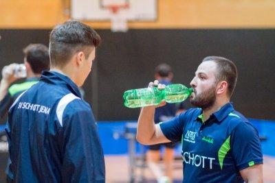 Leo Süß (l.) und Marko Petkov wollen den Kontakt zur Tabellenspitze halten!
