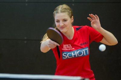 Kati Overhoff konnte ein Einzel gewinnen!