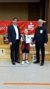Kurt Weber wurde als bester Spieler des Turniers ausgezeichnet!
