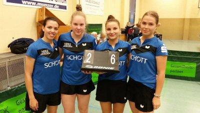 Zufriedene Gesichter nach dem Sieg in Chemnitz!