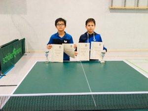 Kaito Ishida (l.) und Gamal Ibrahim siegten im Doppel und wurden beide 3. im Einzel!