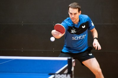 Pavol Mego gewann zwei Einzel und sein Doppel!
