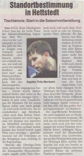 Presseartikel OTZ vom 20.08.2010