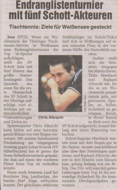 Presseartikel OTZ vom 17.09.2010