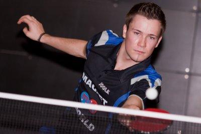 Chris Albrecht sorgte mit zwei Siegen in Einzel wie Doppel für den Erfolg!