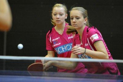 Patricia Jarsetz (l.) und Sophie Schädlich steigen in die Regionalliga auf!