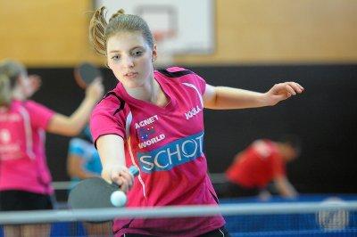 Kathi sorgte mit einem Sieg gegen Spitzenspielerin Püschel für die Vorentscheidung!